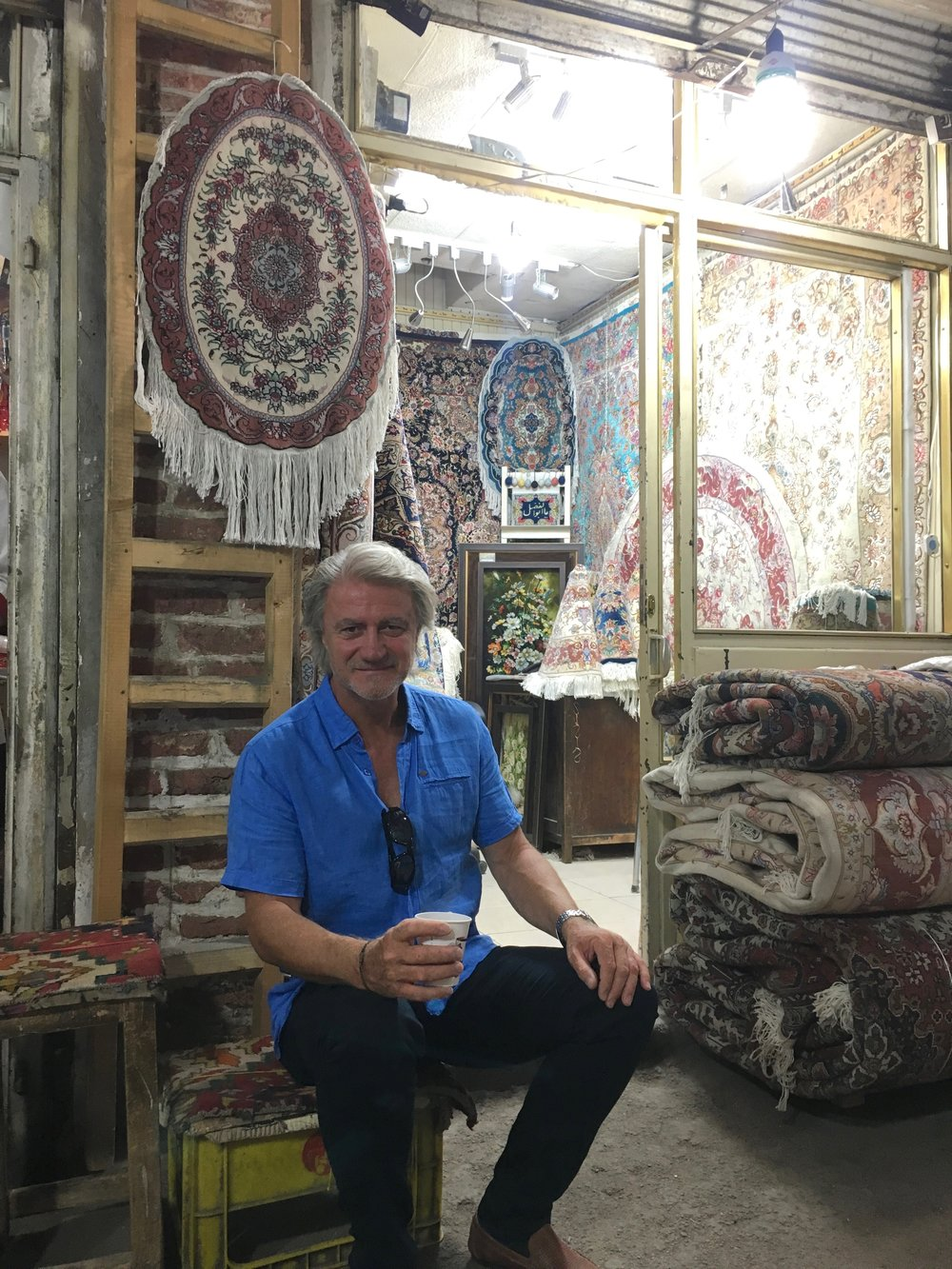 Tea time in the Bazaar, Tabriz.