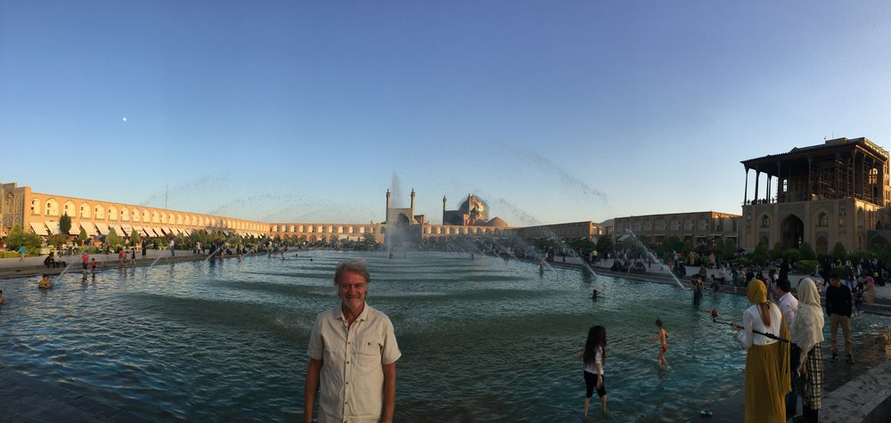 """Central Square, Isfahan. """"Half the World""""."""
