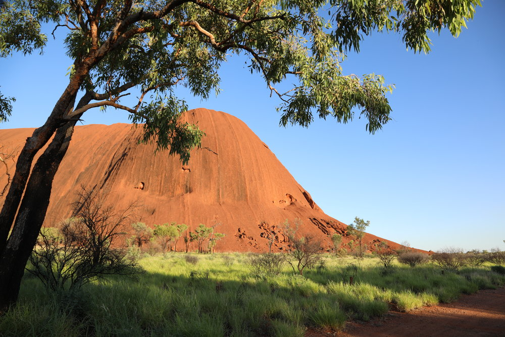 Uluru - It is taller than the Eiffel Tower.Il est plus grand quest la Tour Eiffel.