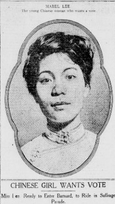 Mable Lee in the New York Tribune on April 13, 1912.