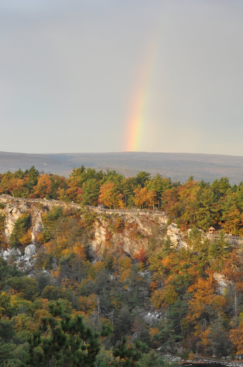 A surprise morning rainbow over the Hudson Valley