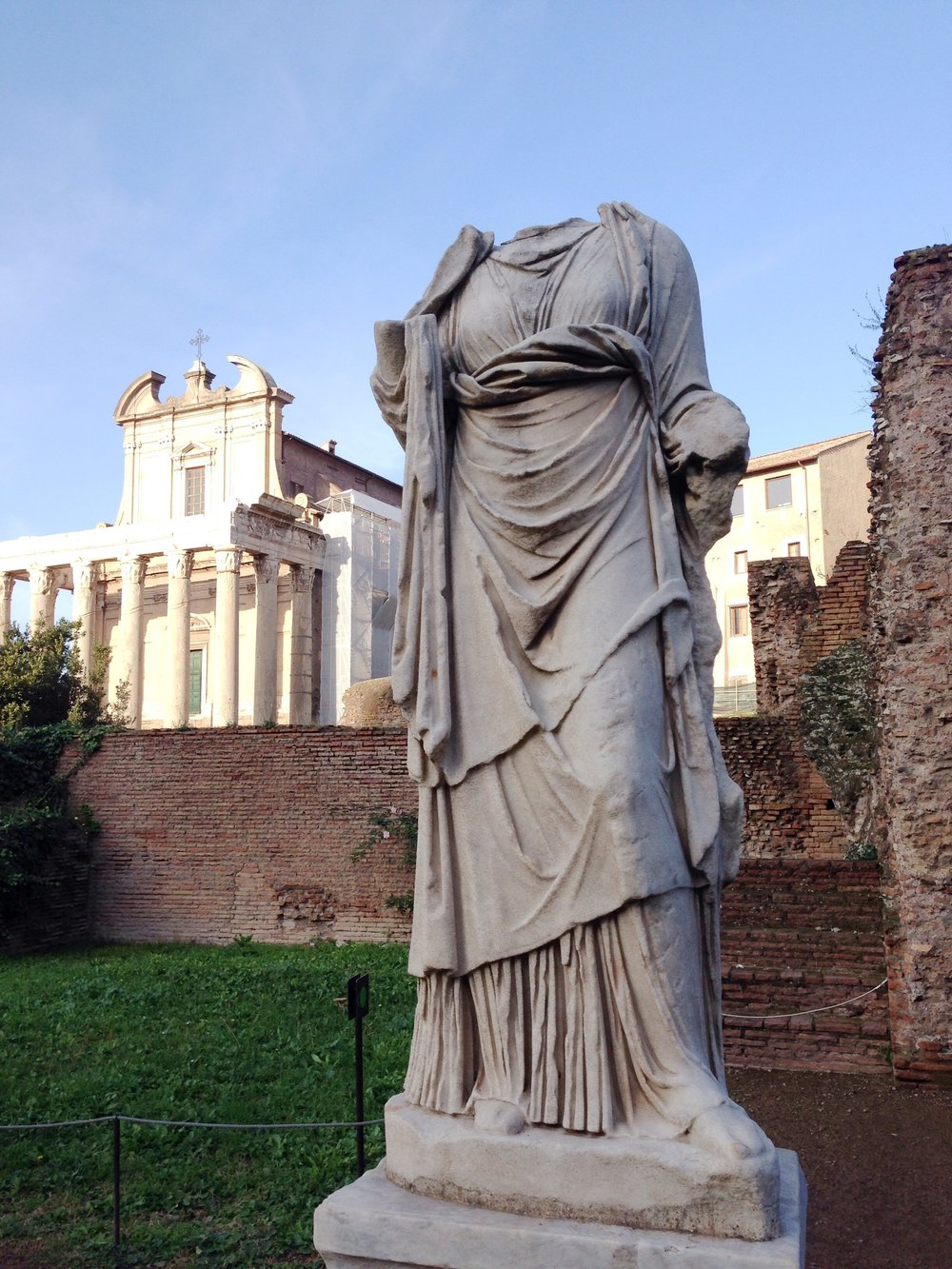 Statue of a Vestal Virgin Roman Forum, Rome, Italy