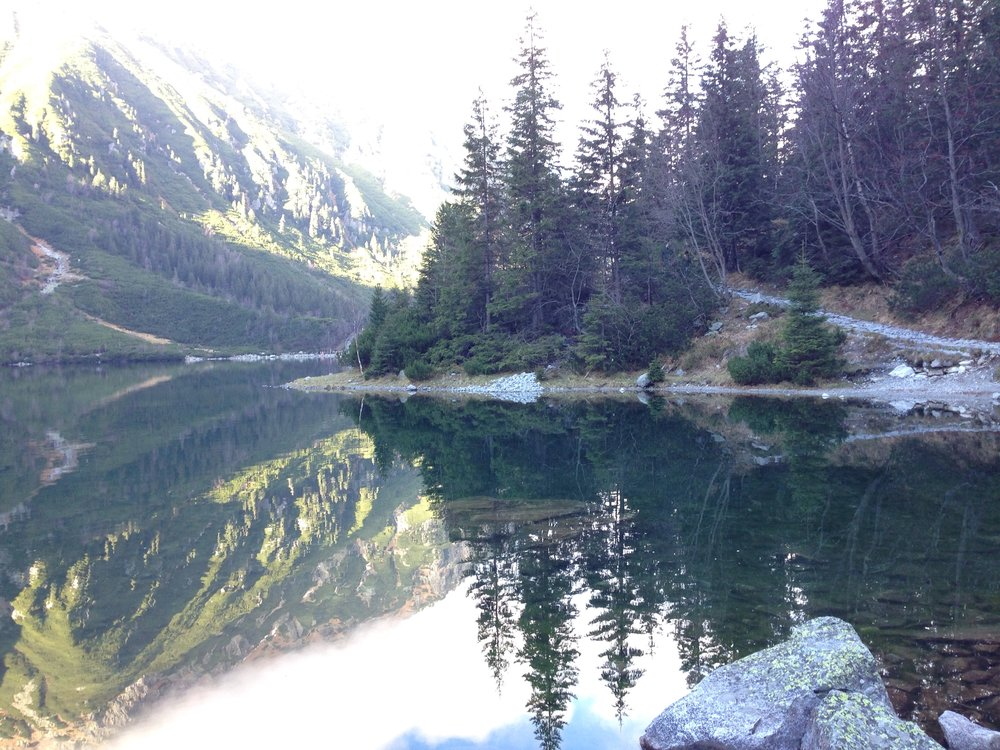 Reflections in Morski Oko, in the Tatra Mountains