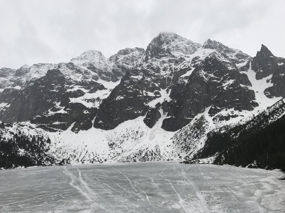 The Tatra Mountains behind Morski Oko