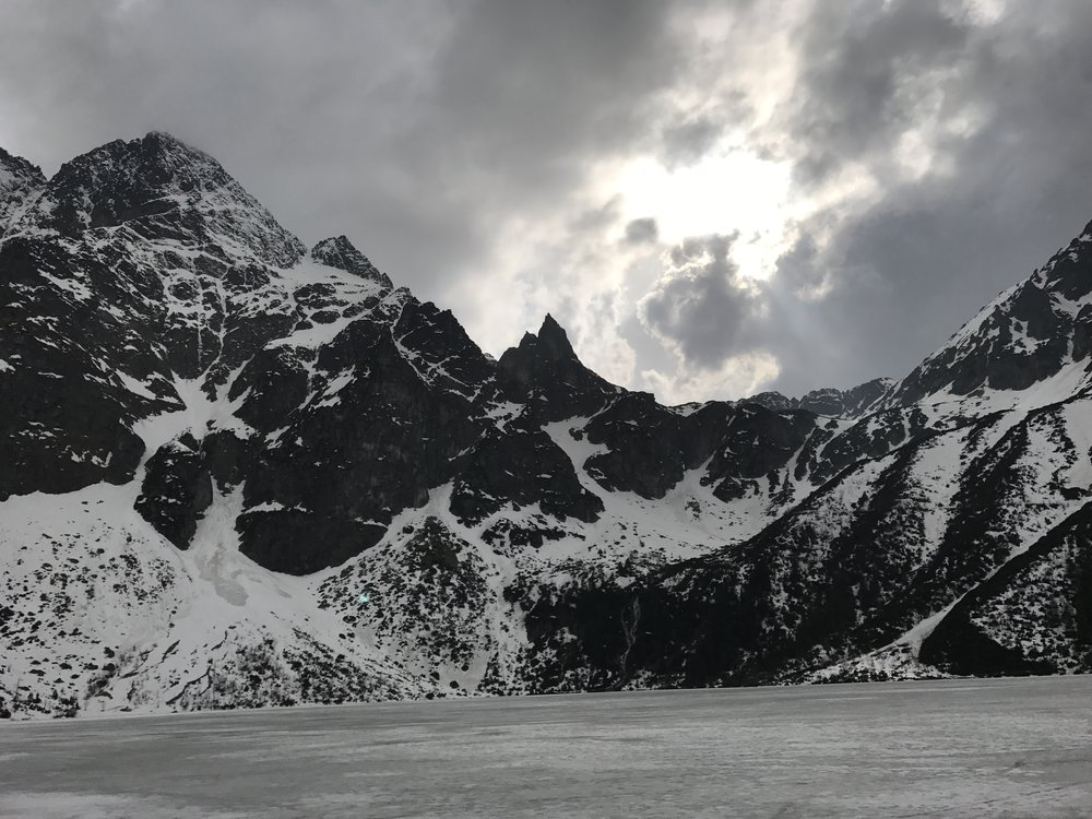 Cloudy skies over the Tatra Mountains