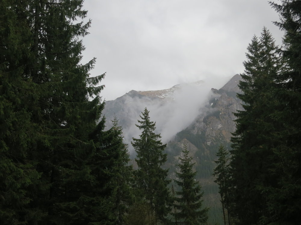 Fog in the Tatra mountains