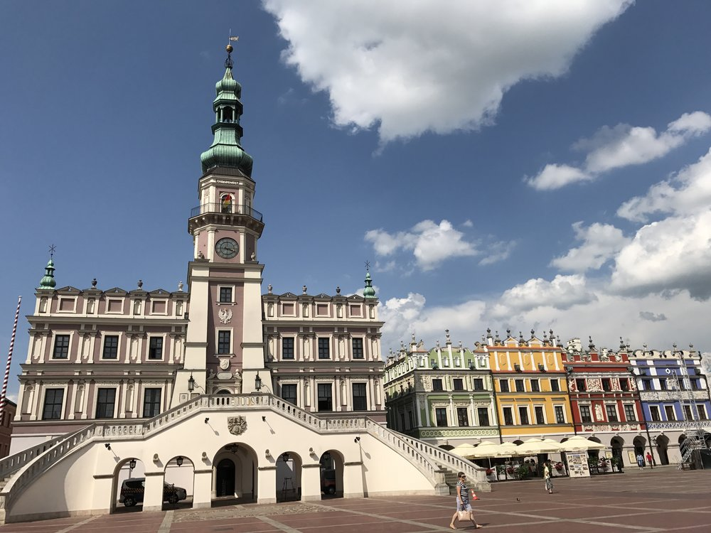 Zamość Main Square: Town hall and Armenian Tenament Houses
