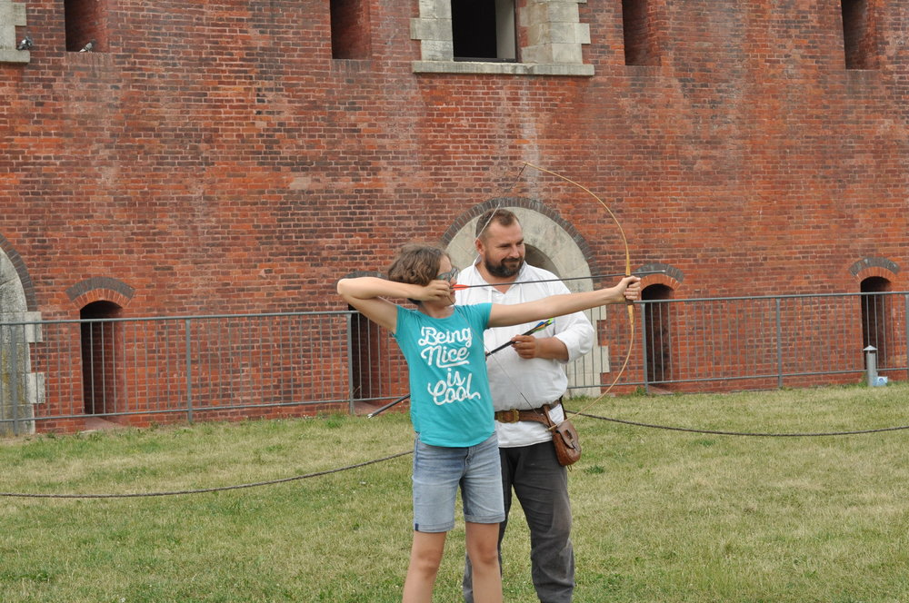 You can try your hand at archery inside Basion Number Seven in Zamość, Poland.