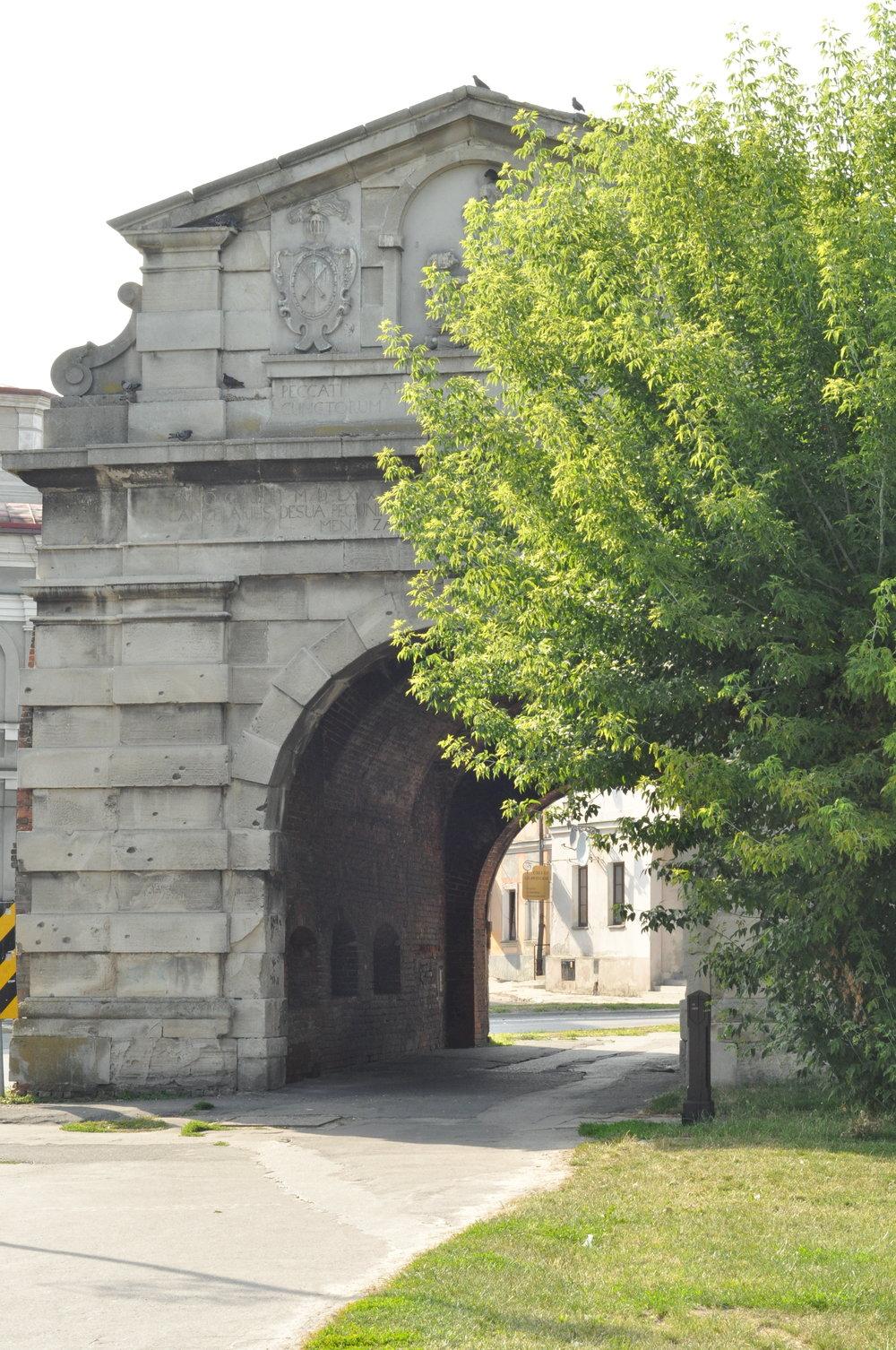 Old Lwow Gate in Zamość, Poland