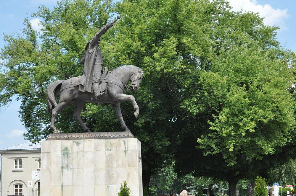 Jan Zamoyski statue, the founder of Zamość, Poland