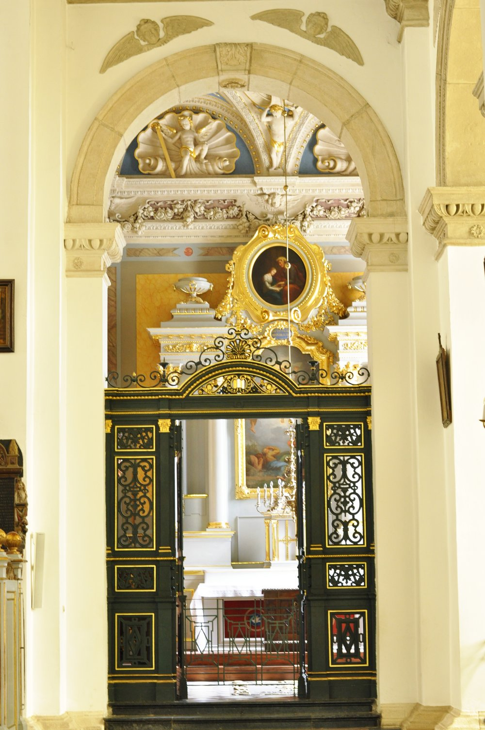 A chapel inside the Zamość Cathedral (officially known as the Cathedral the Lord's Resurrection and St. Thomas the Apostle).