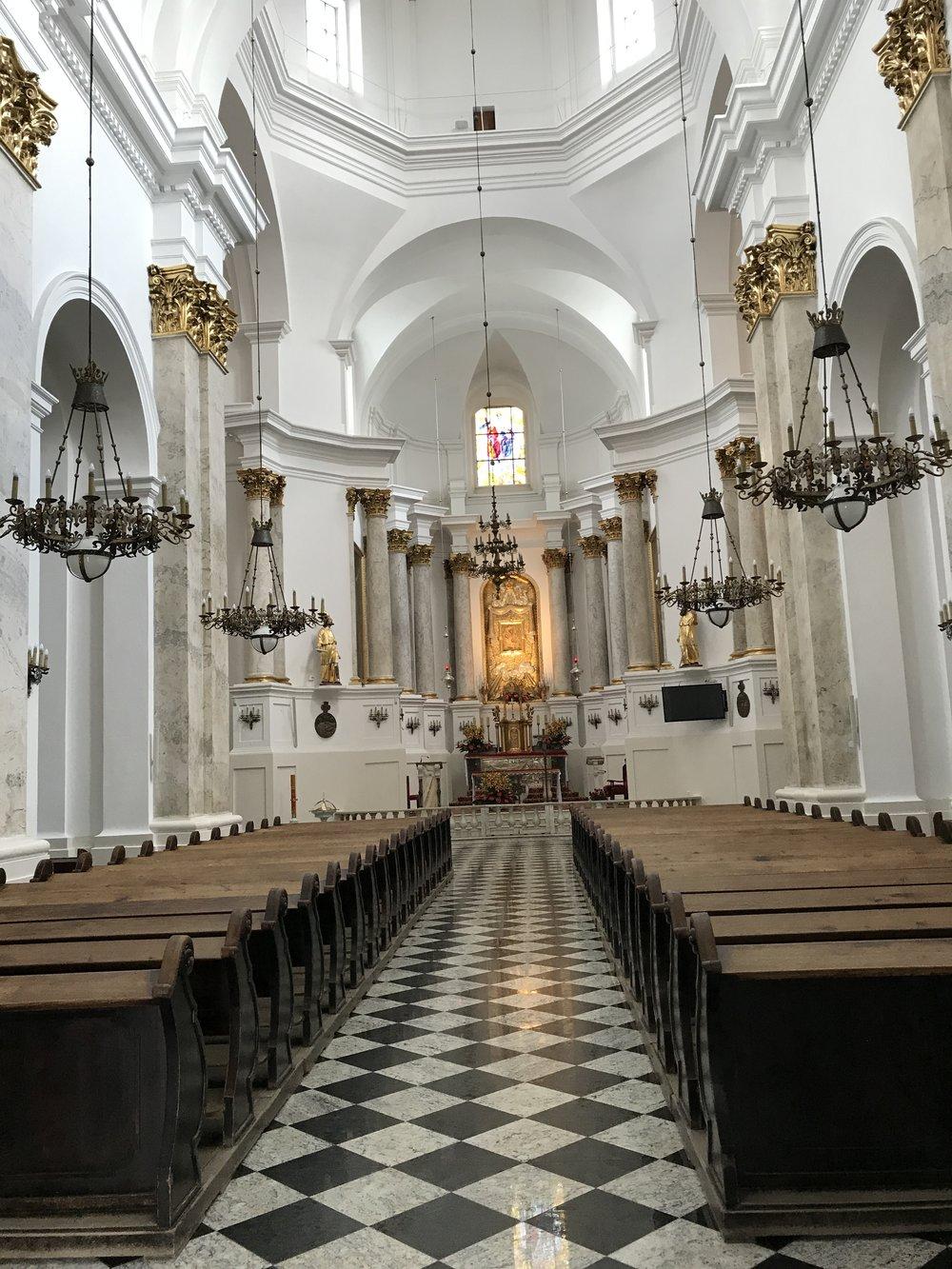 Interior of Chelm Basilica