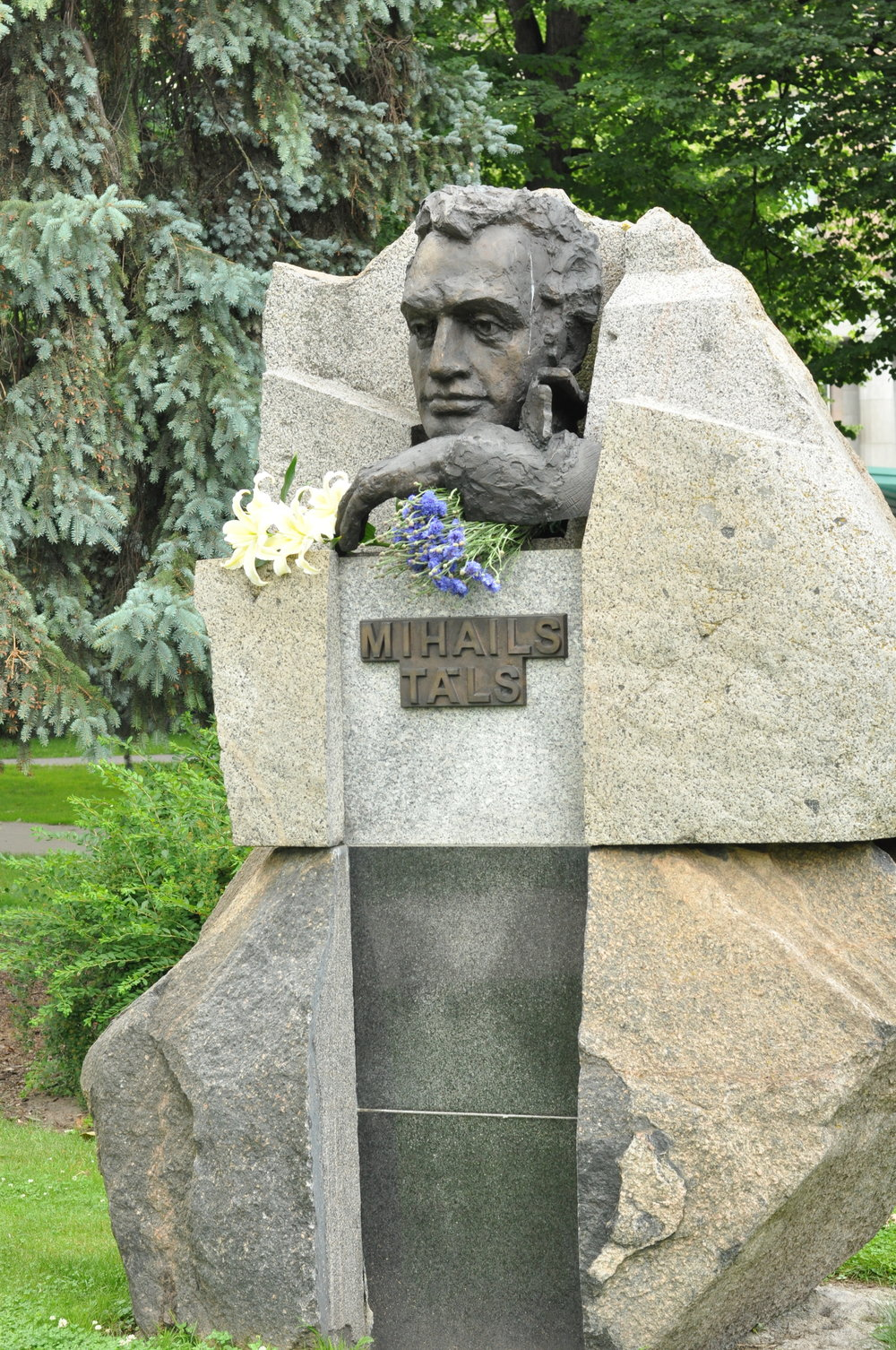 Mihails Tals Statue in Riga, Latvia
