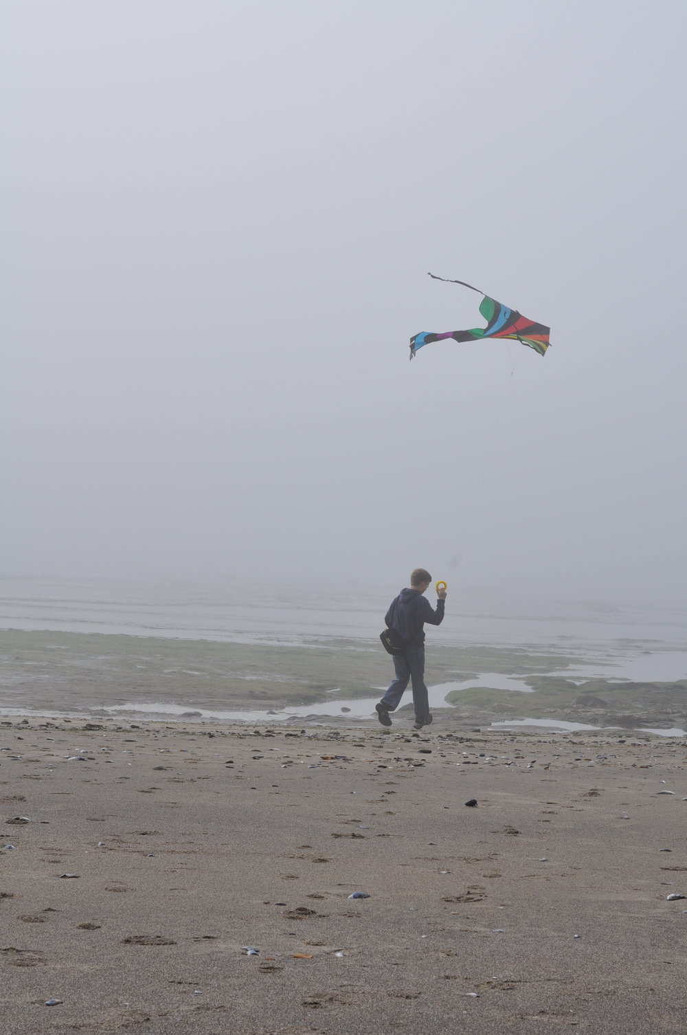 Kite flying on the Oregon Coast