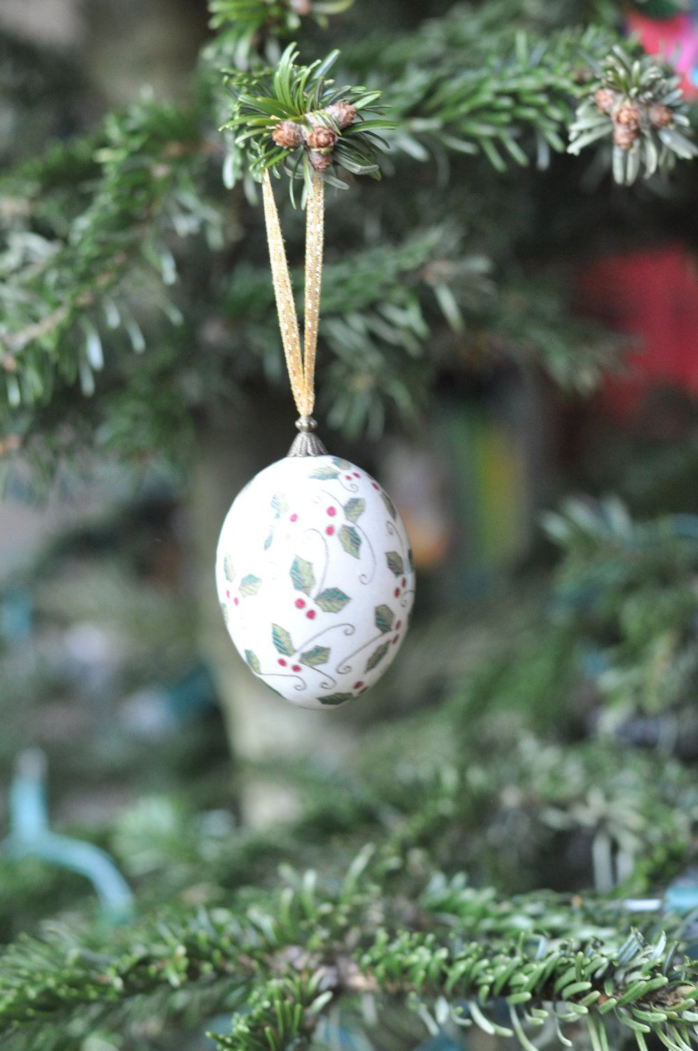 Philippine painted egg Christmas ornament