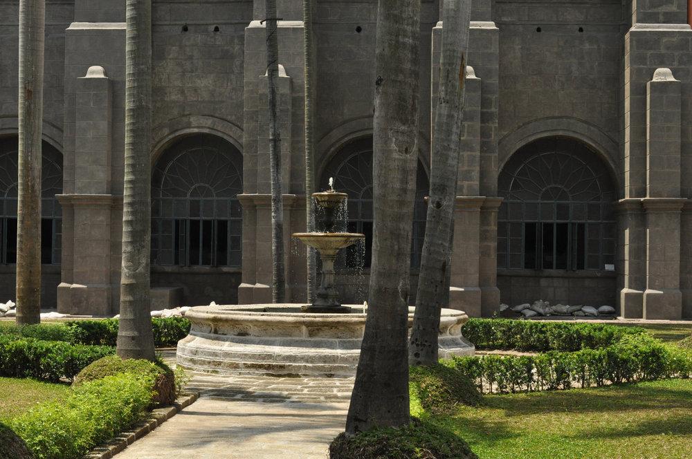 Courtyard fountain of San Agustin Church, Intramuros, Manila Philippines