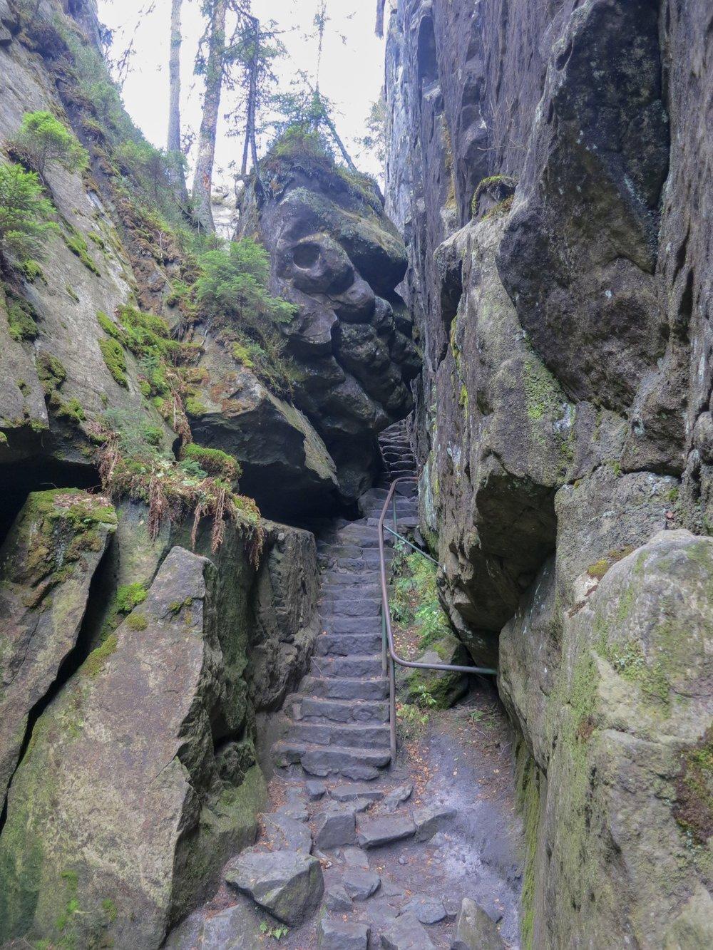 Szczeliniec Wielki Hike, Stołowe Mountains, Poland