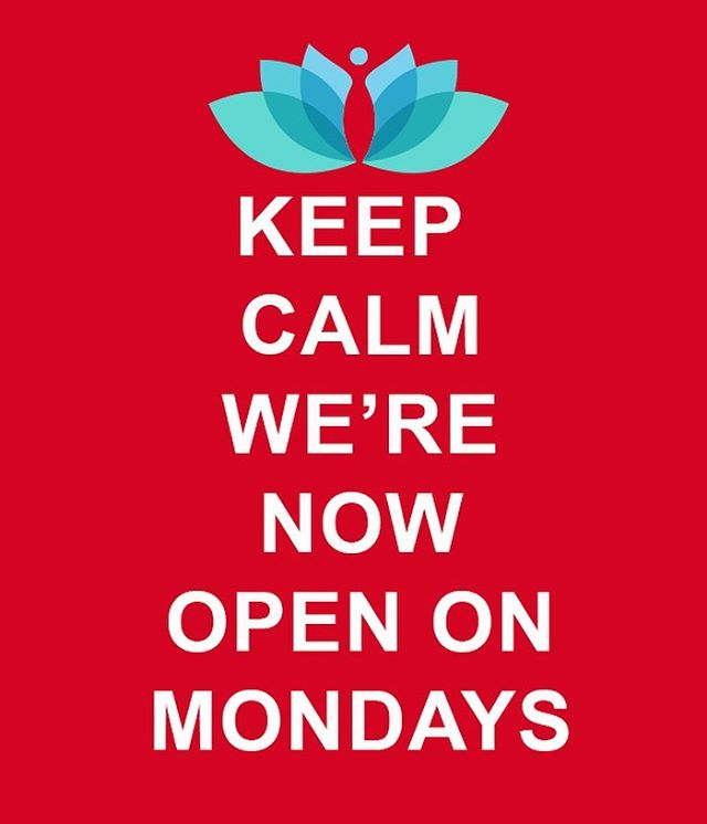 We're now open on Mondays. Free body composition analysis for the month of January.