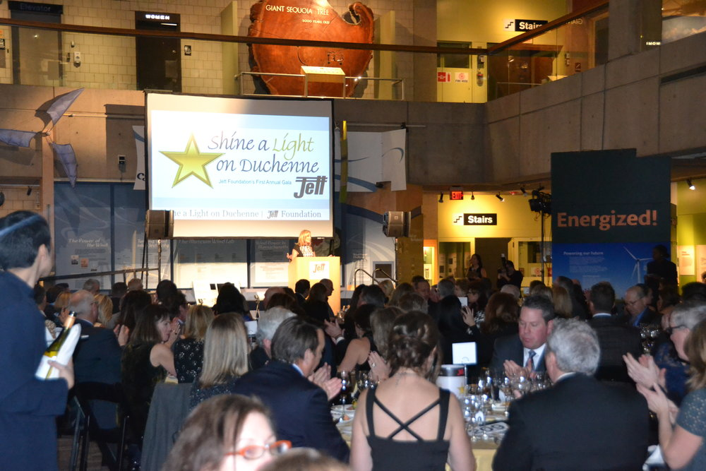 Last year's Shine a Light on Duchenne gala raised over $100,000 for our Jett Giving Fund.