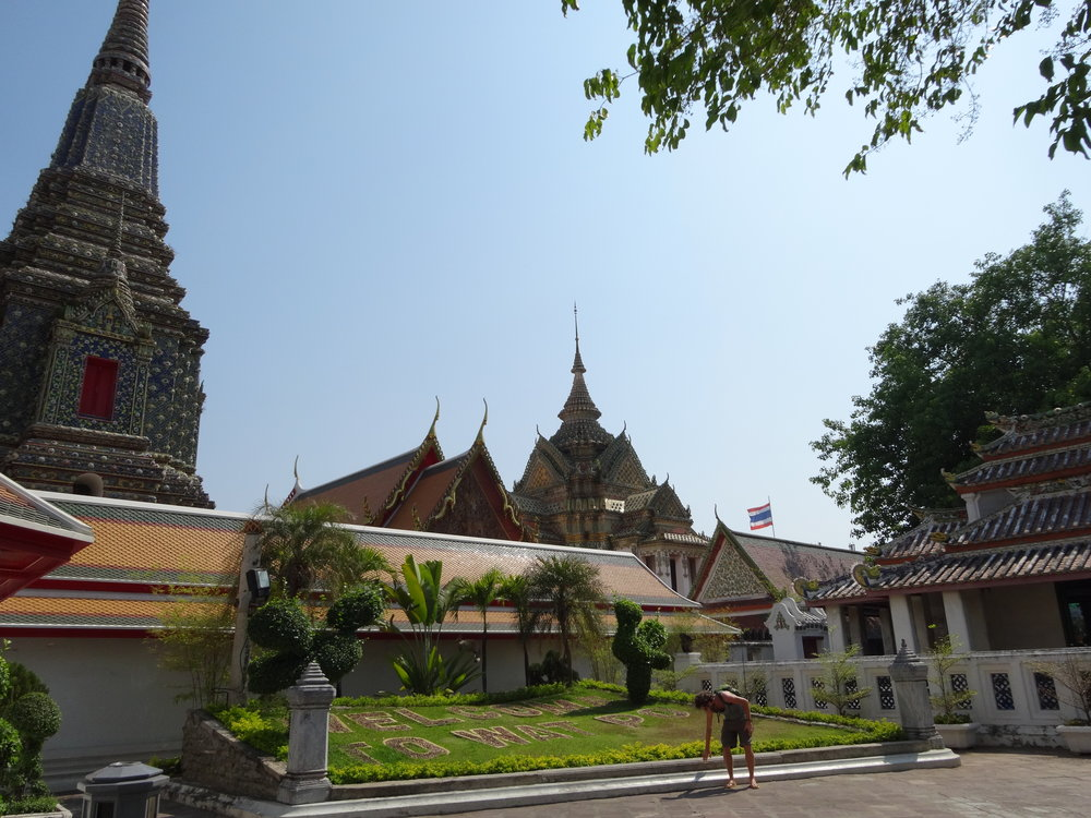 My trip to Bangkok, Thailand in 2014. This is on of the famous Buddhist temples called Wat Po.