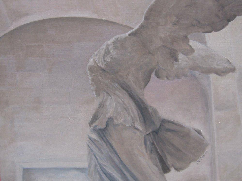 "Wings, 24 x 18"", Oil, (sold)"