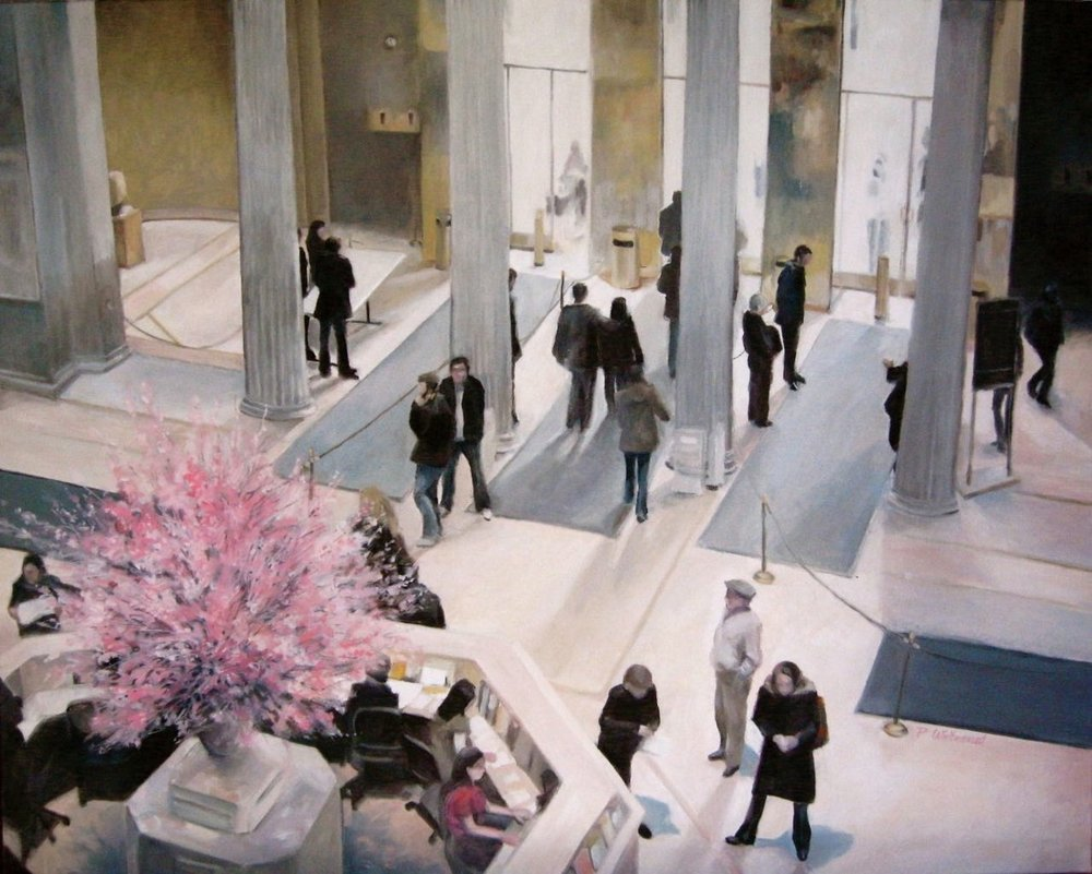 """Spring Morning at the Met, 30 x 24"""", Oil (sold)"""