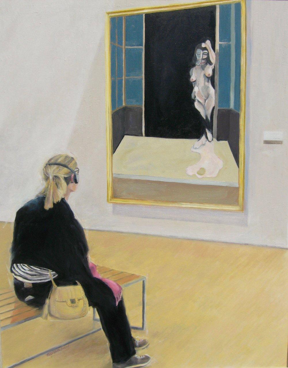 """Through The Doorway, 24 x 30"""", oil (sold)"""