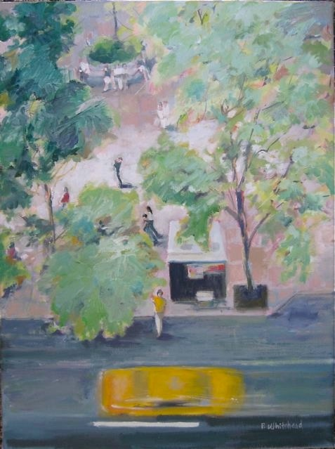 """NYC:Summer Taxi, 12 x 16"""", Oil"""