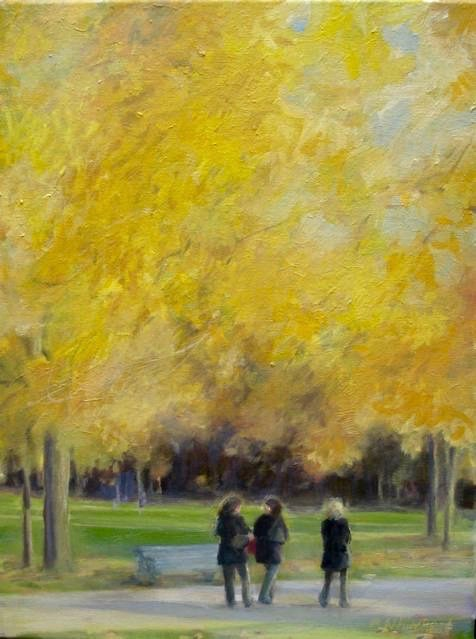 "London, The Conversation, 12 x 16"", Oil (sold)"
