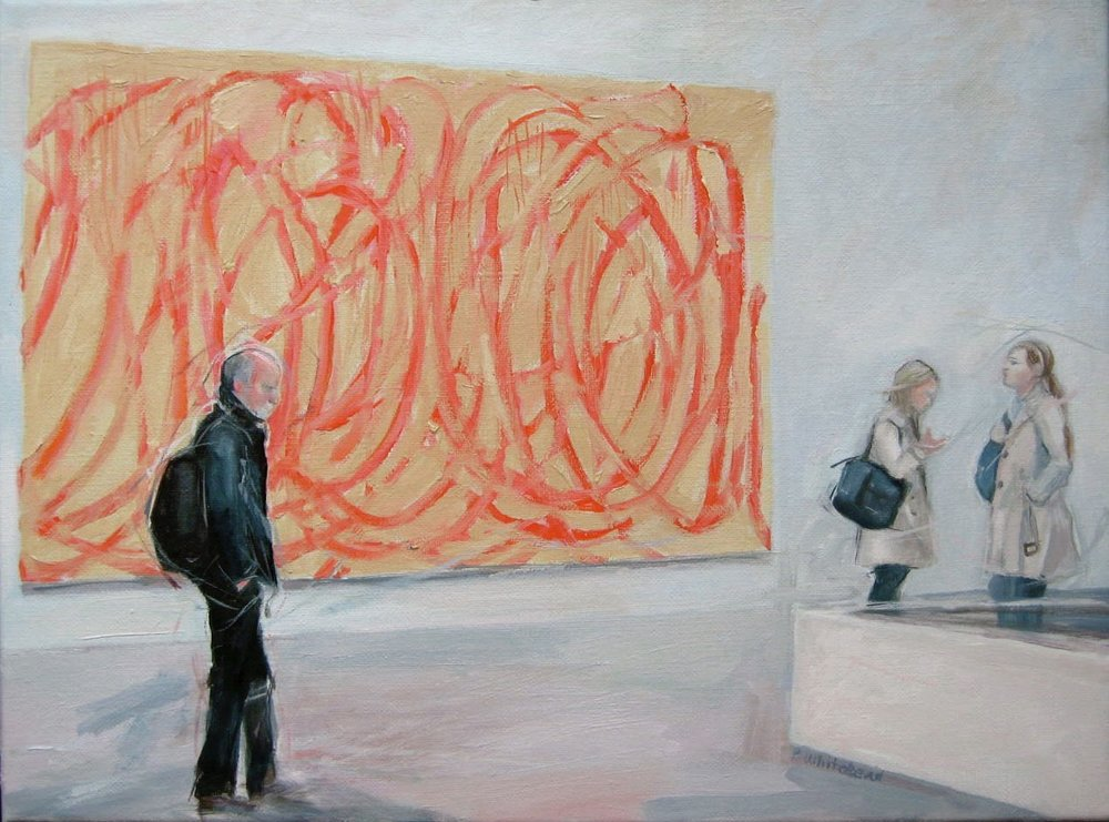 "Twombley at the Tate, 16 x 12"", Oil (sold)"