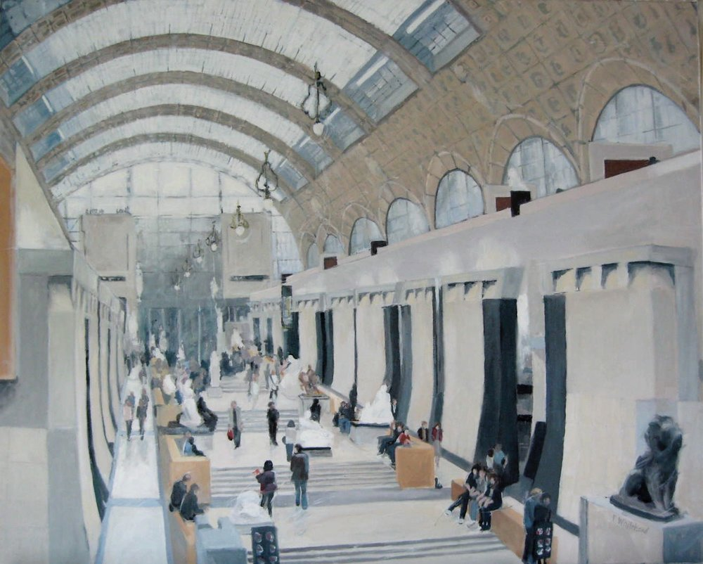 "Musee d'Orsay, 30 x 24"", oil (sold)"