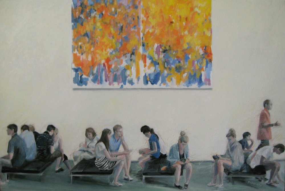 """MOMA and Joan, 36 x24"""", Oil, (sold)"""