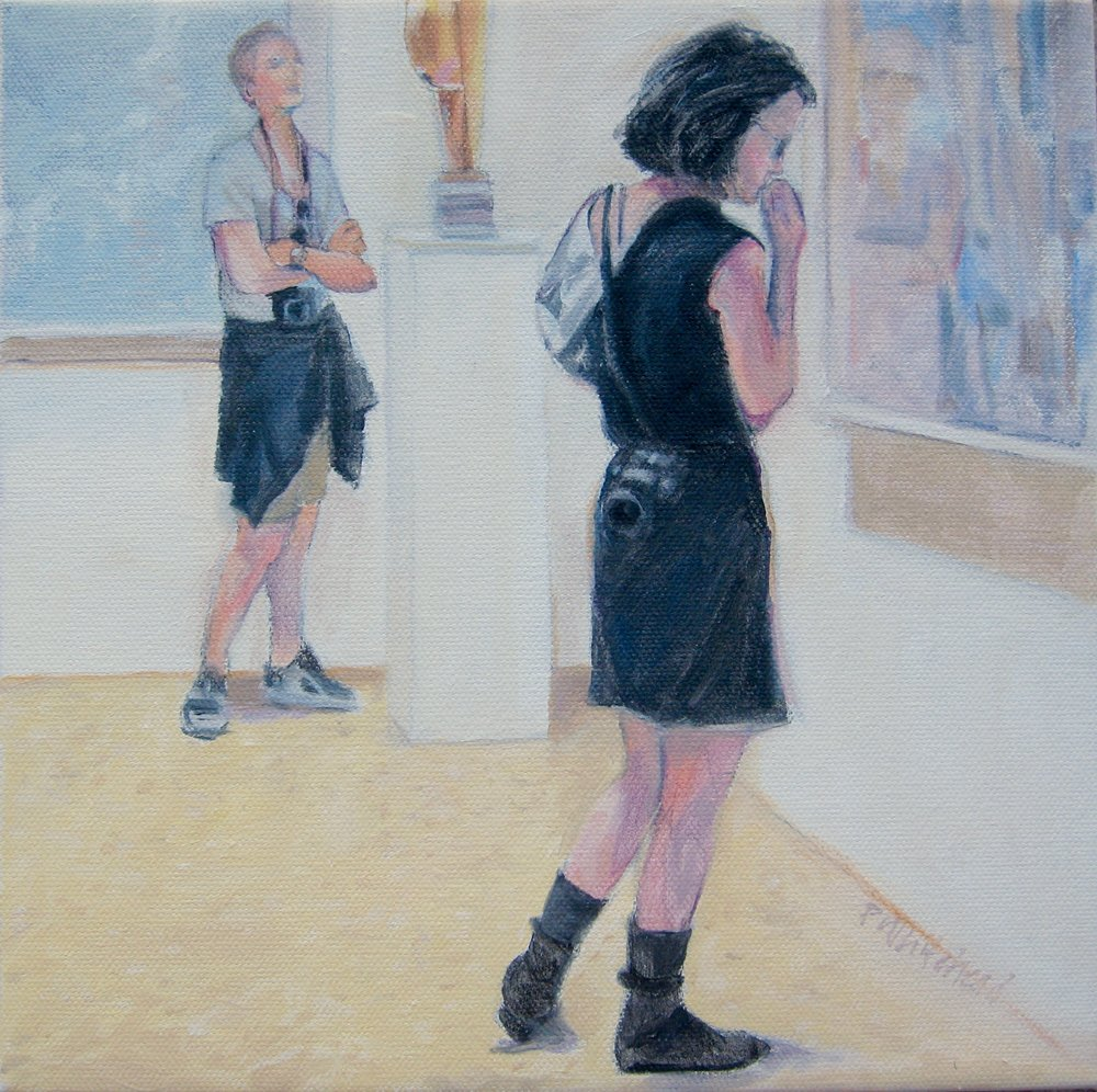 """Looking In, 10 x 10"""", Oil, (sold)"""