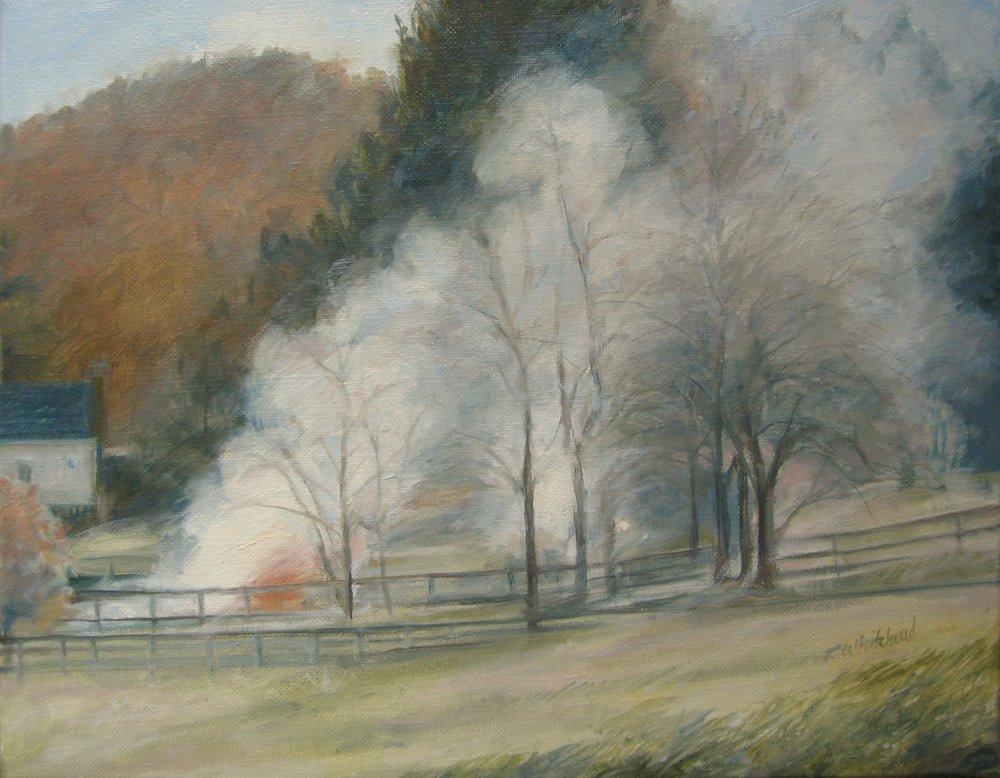 "Autumn Burn, 14 x 11"", Oil (sold)"