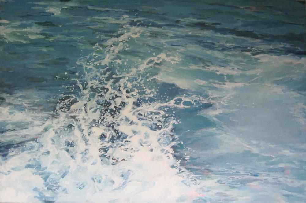 "Ballet, Wave #26, 36 x 24"", Oil"