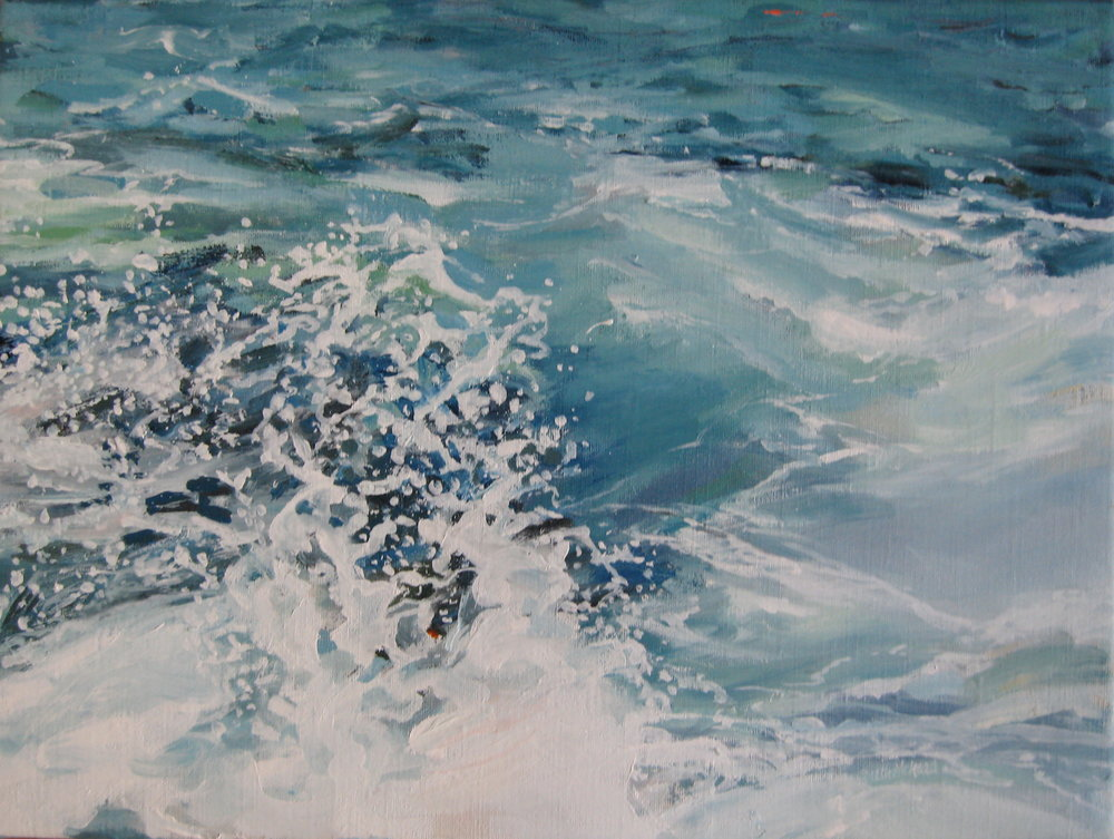 Wave # 24, 16 x 12, Oil, (sold)
