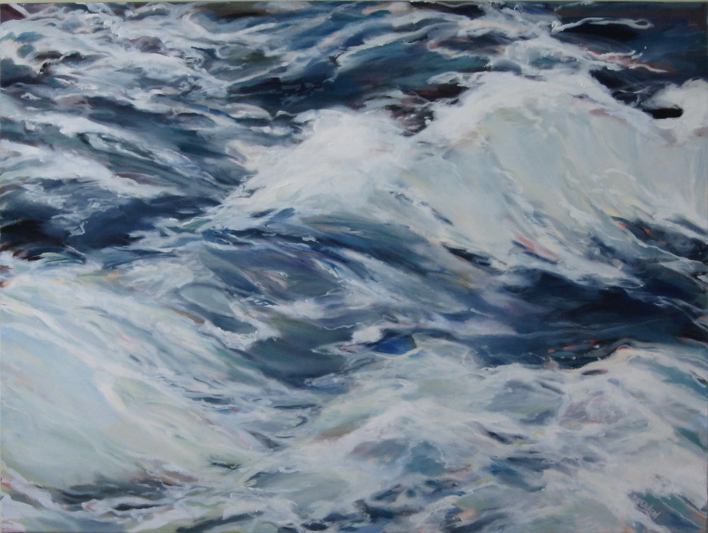 "Wave #20, 40 x 30"", Oil, (sold)"