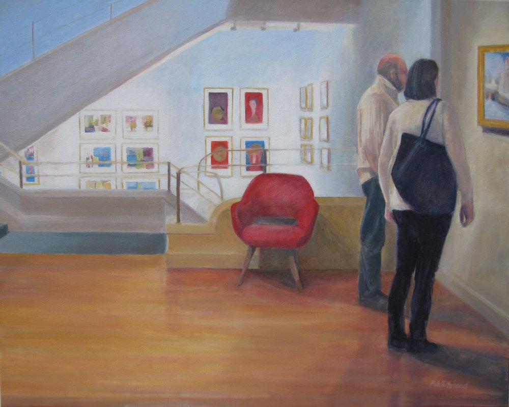 """Sunday Afternoon at the Phillips, 30 x 24"""", Oil"""
