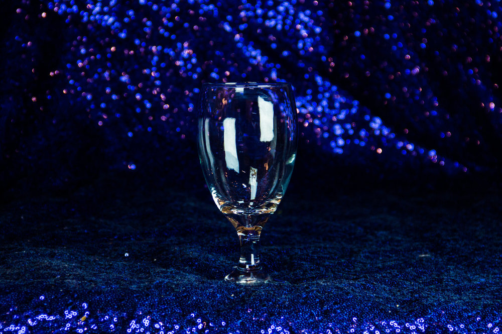 Clear Footed Water Glass