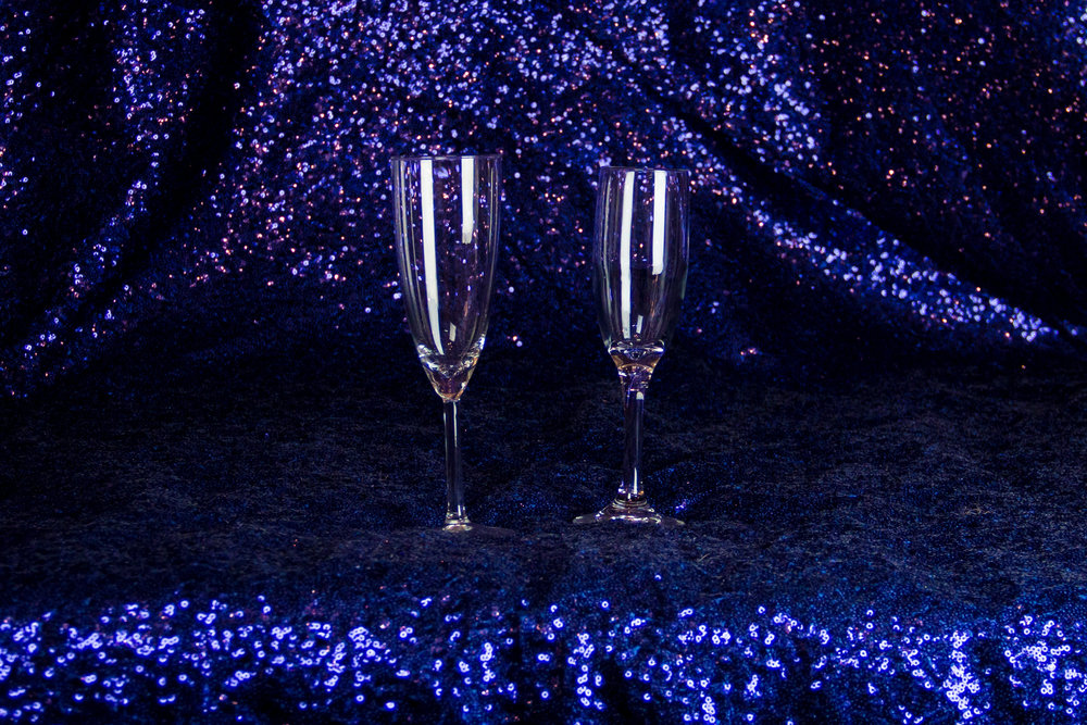 Clear Footed Champagne Glasses