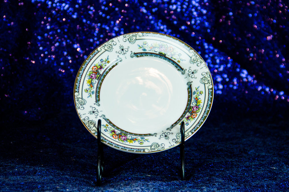 Assorted Patterned China Dinner Plates
