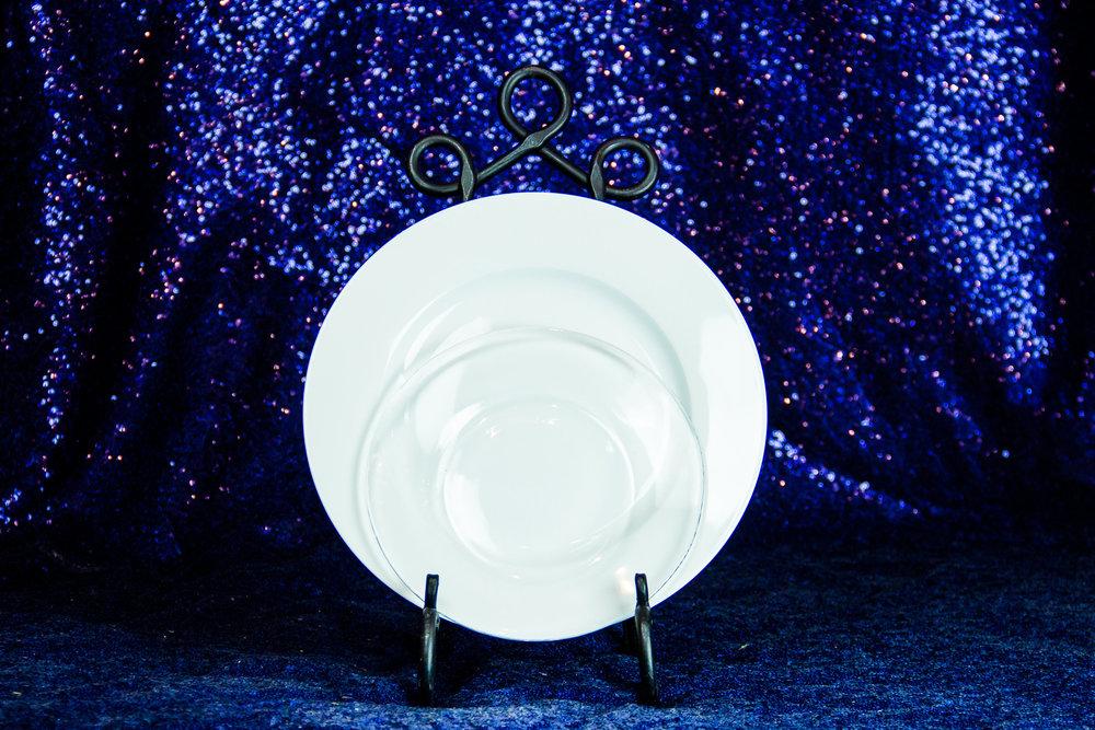 Round White Plates