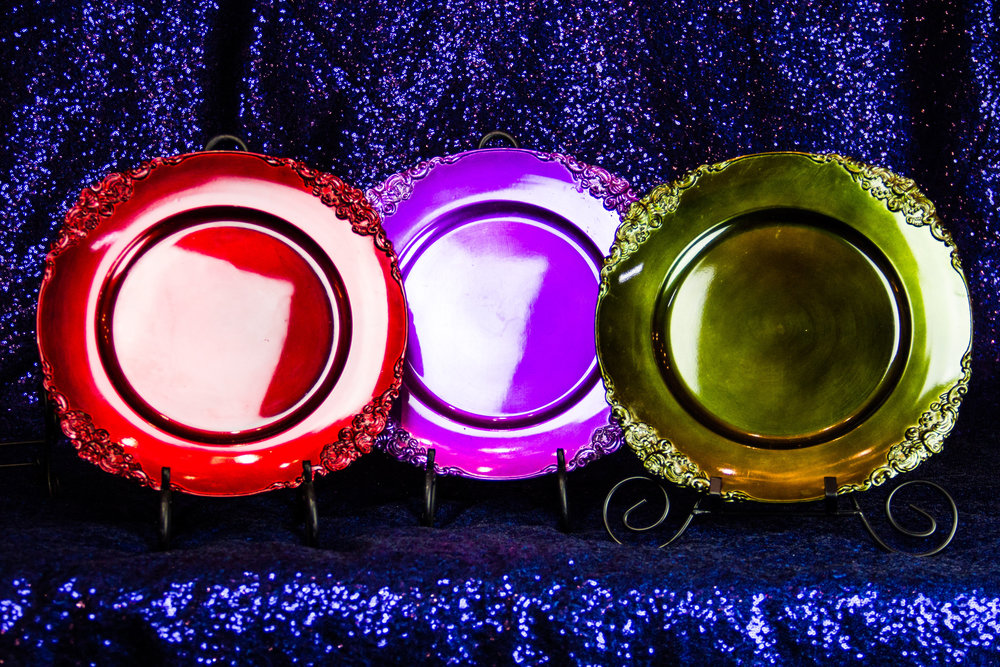 decorative acrylic chargers