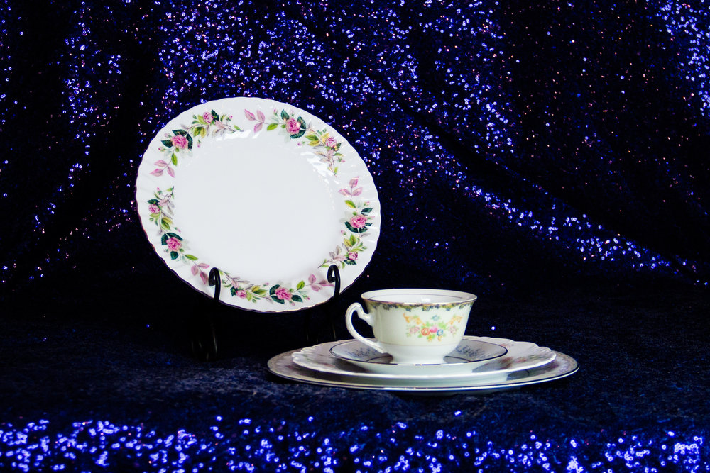 Assorted Patterned China Salad/Appetizer/Dessert Plates