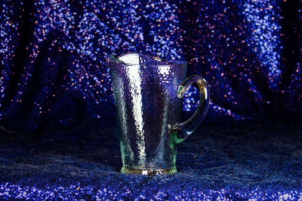 Hammered Glass Pitcher