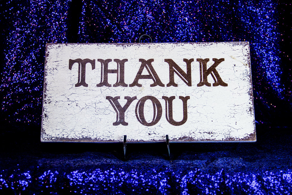 "Wooden ""Thank You"""