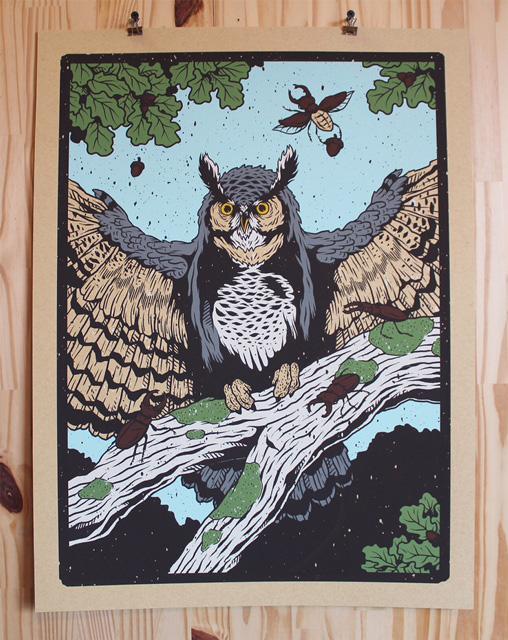 Owl by CCAD alum Logan Schmitt