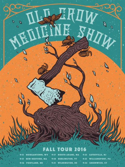 Old Crow Medicine Show  by CCAD alum Logan Schmitt