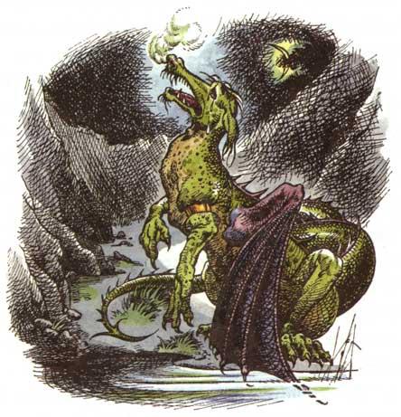 Pauline Baynes' illustration of Eustace the dragon