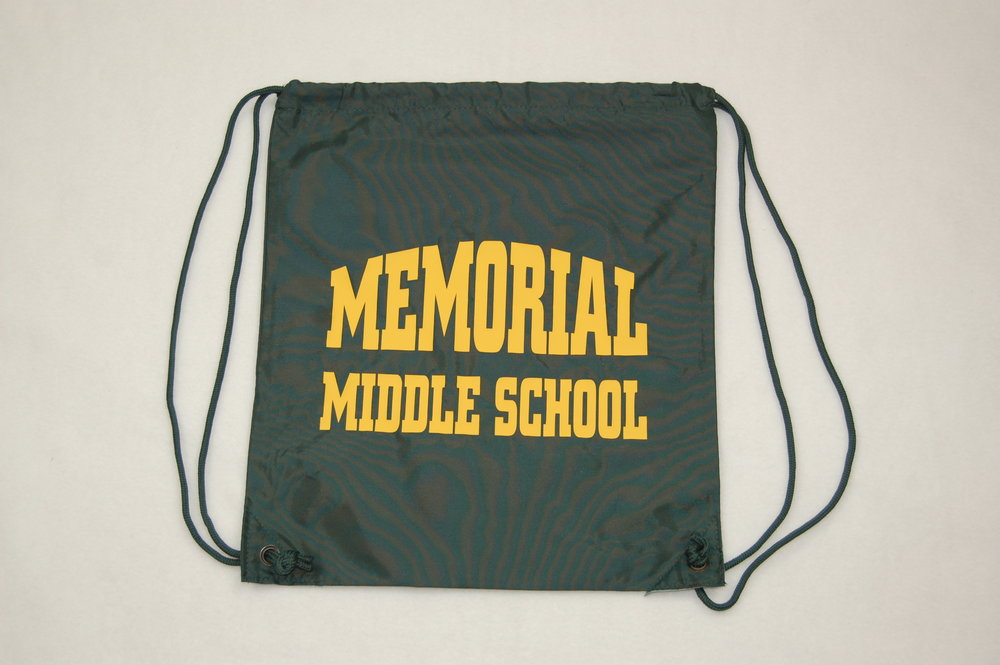 Memorial Middle School string bag.